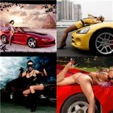 Wallpapers super Girls super Cars